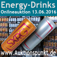 Auktion Energy Drinks und Promotionobjekte 13.06.2016